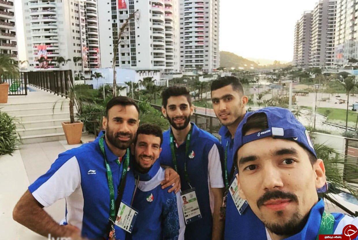 سلفی والیبالیست ها در دهکده المپیک