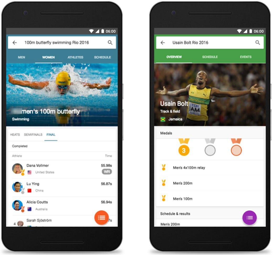 تدبیر ویژه گوگل برای مطالب پیرامون المپیک