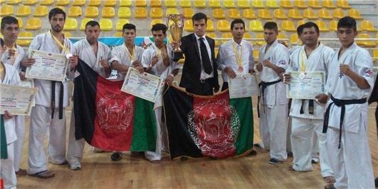 افغانستان نائب قهرمان مسابقات بینالمللی کاراته یزد شد