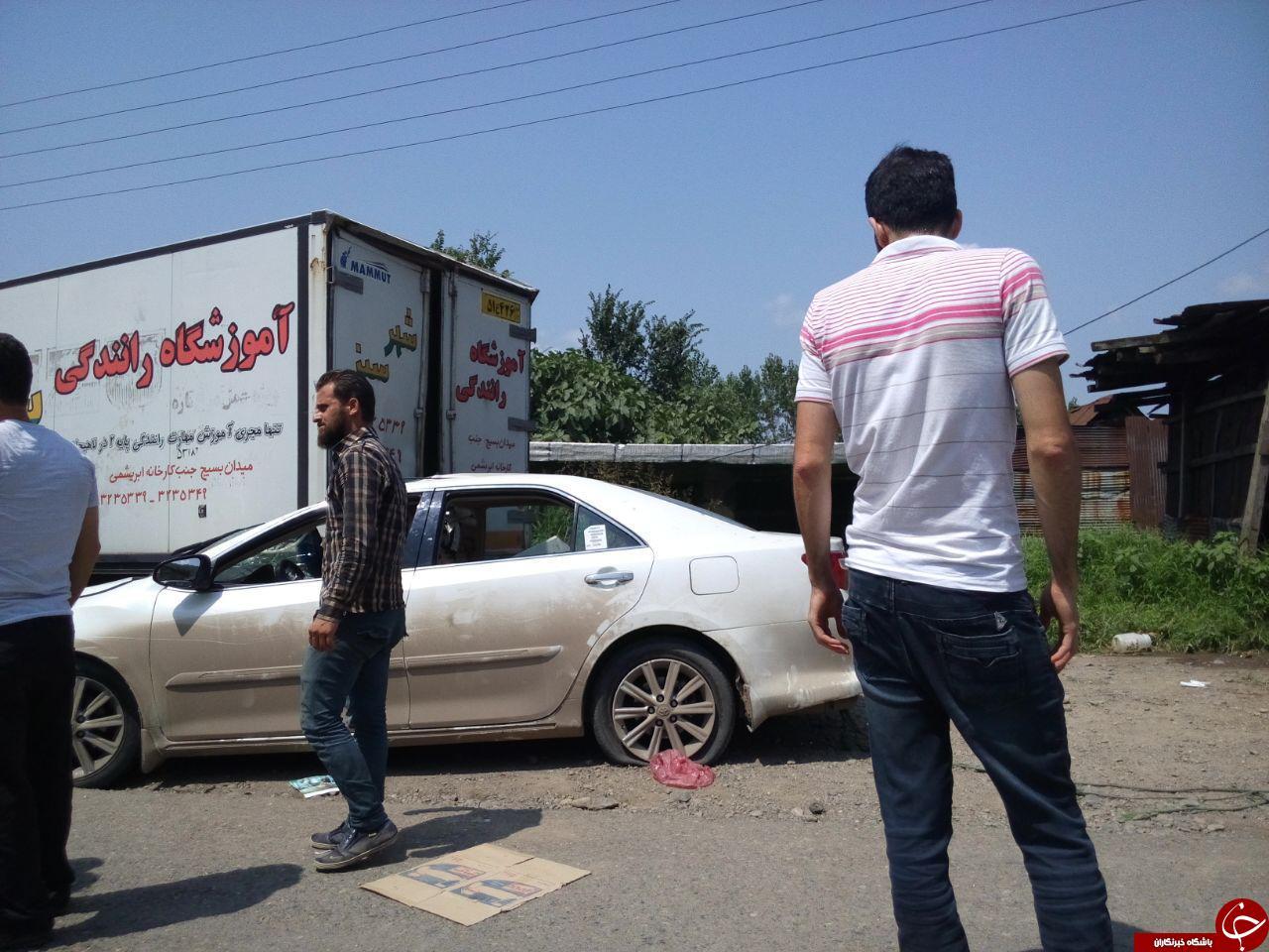 تصادف زنجیرهای باعث ایجاد ترافیک در جاده لنگرد به لاهیجان شد + فیلم