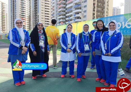 بانوان ورزشکار ایران در دهکده بازی های ریو+عکس