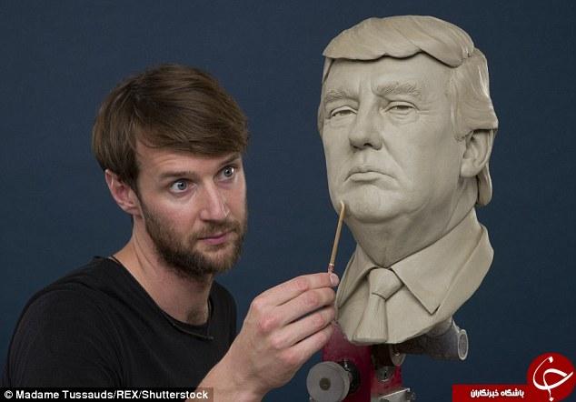 رونمایی از مجسمه نامزدهای انتخابات ریاست جمهوری آمریکا/ یکی خندان و دیگری ناراحت +تصاویر