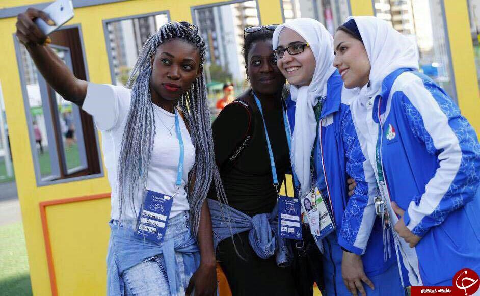 سلفی دختران برزیلی با خانم های ورزشکار ایرانی در ریو