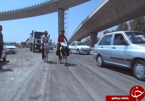 دوچرخه سواران اصفهانی حامی بیماران خاص  وارد قزوین شدند
