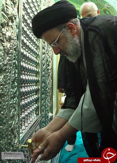 عکس/ کلید درب ورودی ضریح امام رضا (ع)