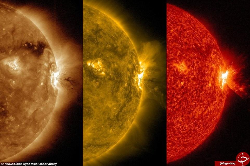 تصاویری وحشتناک از شعلههای مغناطیسی خورشید که میتواند زمین را کباب کند+تصاویر