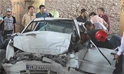 یک کشته و چهار زخمی در تصادف سه خودرو