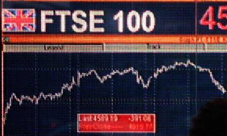 کاهش شاخص بورس فوتسی 100 لندن در پی سقوط سهام بانکها