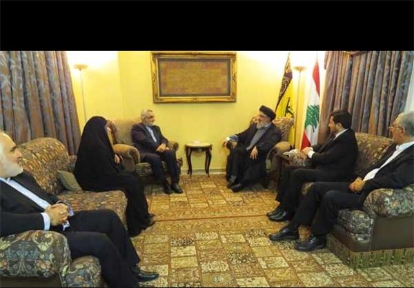 سید حسن نصرالله و علاء الدین بروجردی دیدار کردند