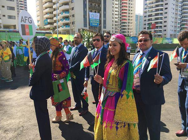 تیم المپیکی افغانستان در ریو مورد استقبال قرار گرفت + عکس