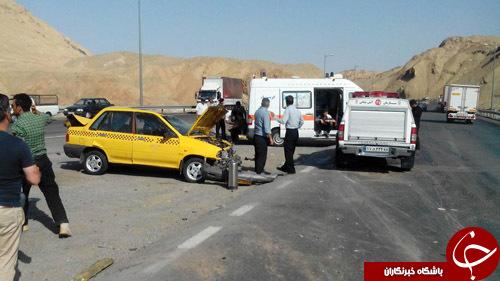 بی احتیاطی رانندگان باعث تصادف زنجیره ای شد