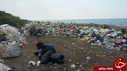 ساحل عباسآباد به گندآب کشیده شد + تصاویر