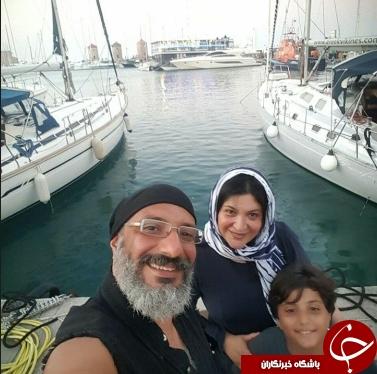 بازیگر مرد و زن ایرانی در سواحل اروپا+عکس