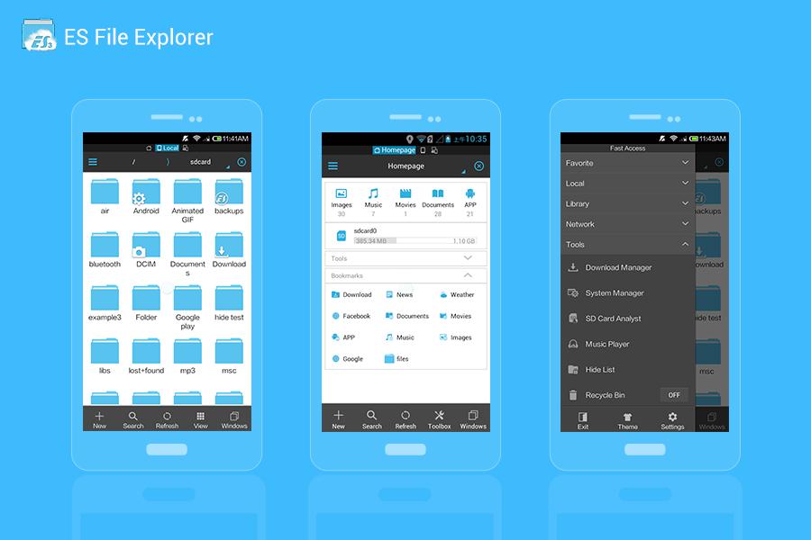دانلود ES File Explorer بهترین و قدرتمندترین برنامه مدیریت فایل