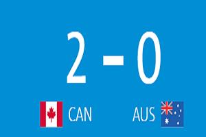 پیروزی فوتبالیست های کانادا در مقابل استرالیا