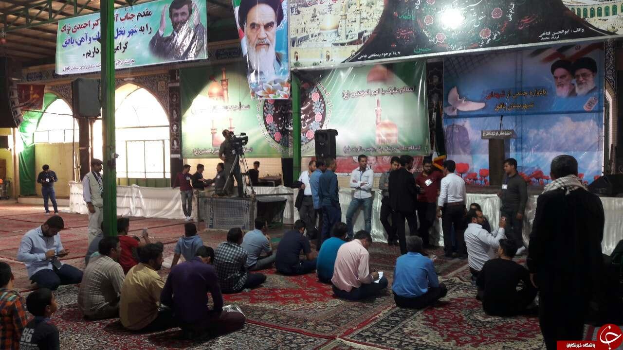 احمدی نژاد، تنها در کویر/ سرمای سکوت در تابستان داغ بافق + تصاویر
