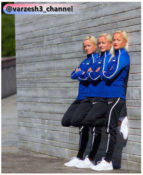 خواهران 3 قلو المپیک,عکس  لیلا، لینا و لیلی لویک, لیلا، لینا و لیلی لویک,سه قلوهای دو مارتن المپیک