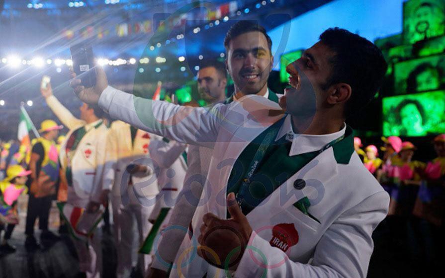 رژه کاروان ایران در المپیک ریو 2016+ فیلم و تصاویر