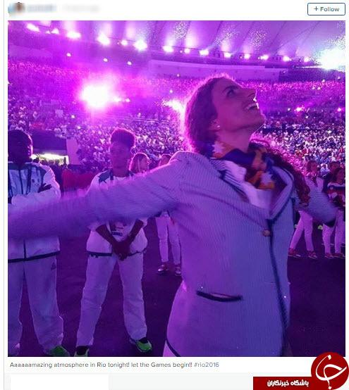 سلفی ورزشکاران در مراسم افتتاحیه ریو + تصاویر