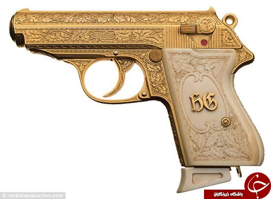 اسلحه طلاکاری شده رهبر نازی به مزایده گذاشته شد +تصاویر