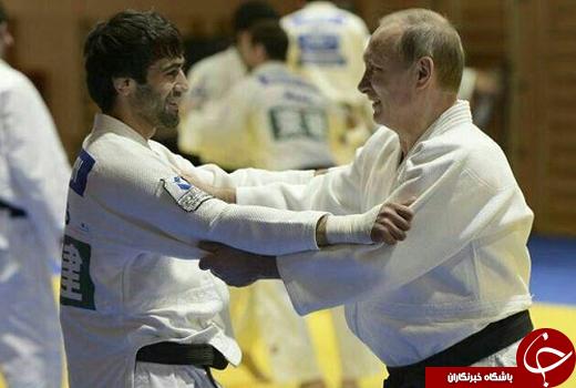 تصویری از جدال پوتین با قهرمان جودوکار المپیک