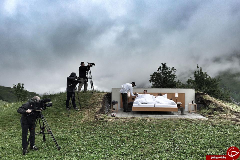 عجیبترین هتل دنیا در کوههای آلپ +تصاویر