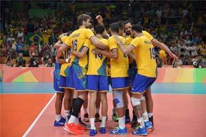 پیروزی برزیل و ایتالیا در روز نخست والیبال مردان