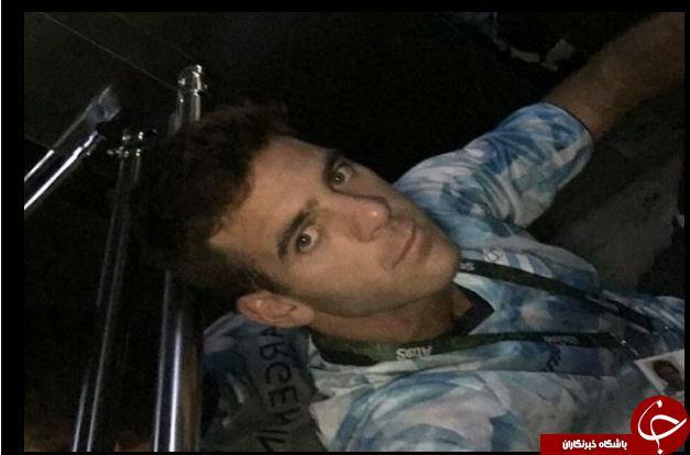 سلفی تنیسور آرژانتینی در آسانسور