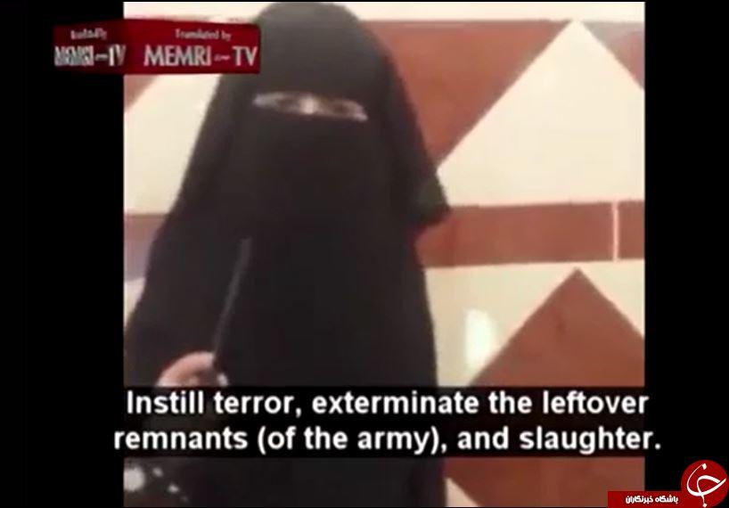 دختربچه نقابدار، جلاد خردسال داعش +تصاویر