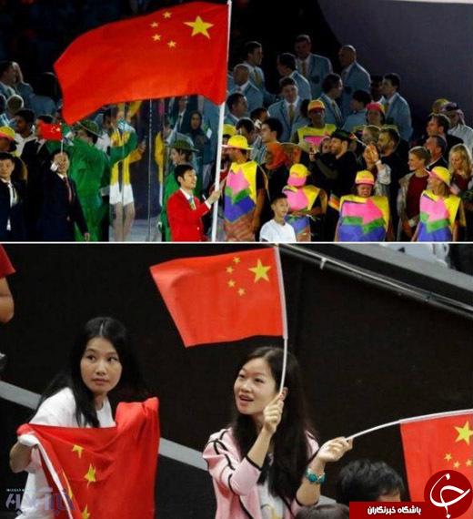 عکس/ جنجالی که پرچم چین در المپیک به پا کرد