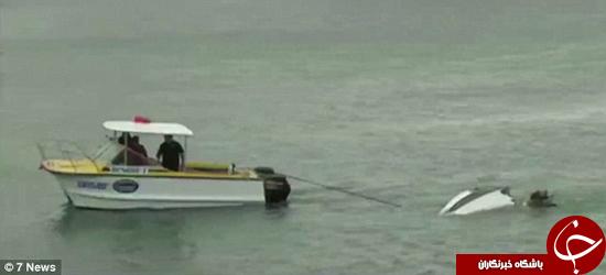 قایق گران قیمت تکه تکه شد +تصاویر