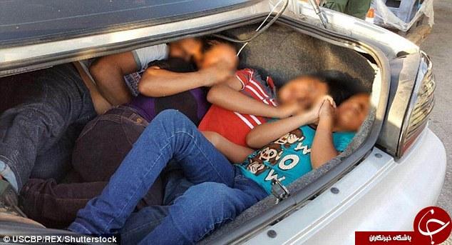 شیوه های عجیب و غریب مهاجران برای استتار؛ از دوخته شدن به صندلی خودرو تا پنهان شدن در داشبورد!+ تصاویر