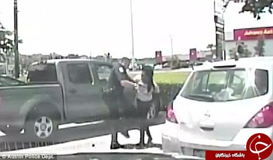 پلیس وحشی صفت به زن بیگناه حمله کرد +تصاویر