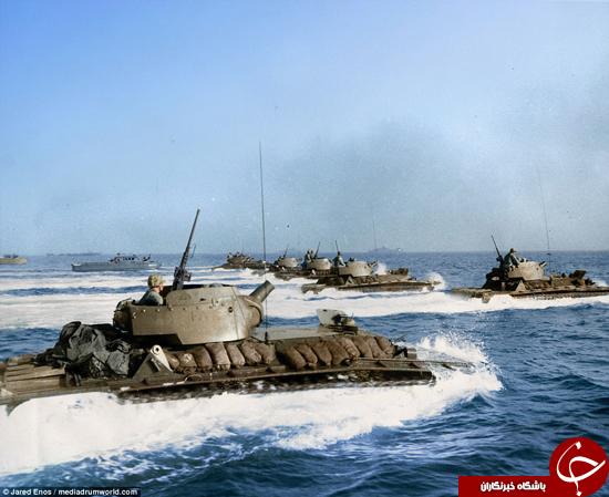 تصاویر رنگی از نیروهای دریای در جنگ جهانی دوم
