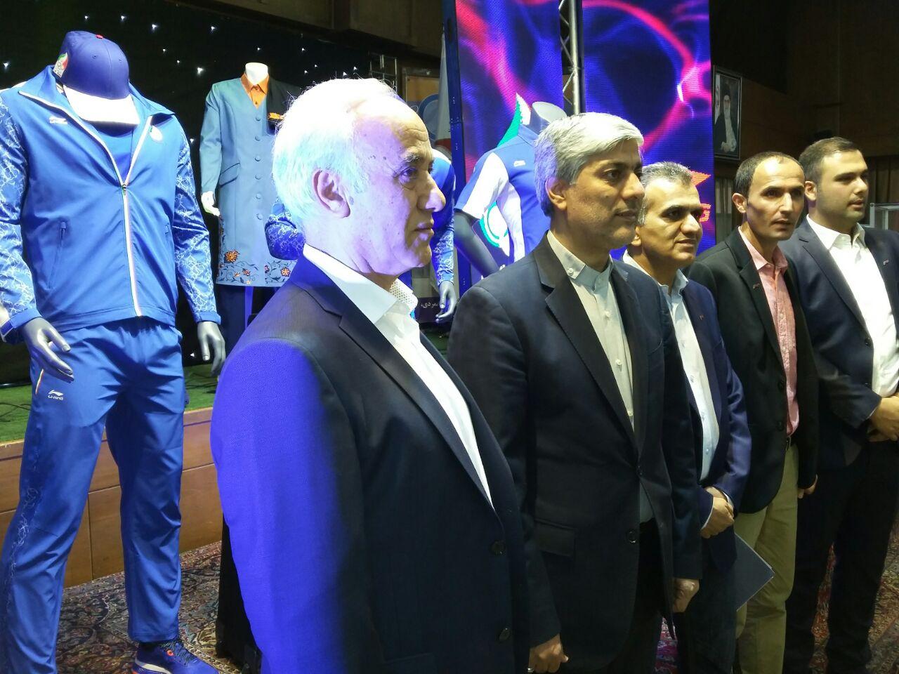 مراسم رونمایی از لباس کاروان ایران در المپیک+تصاویر