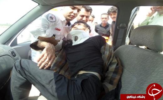 نجات مرد افغانی از مرگ حتمی + تصاویر