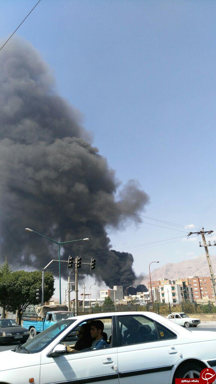آتش گرفتن تانکر سوخت در میدان امام حسین(ع) + تصاویر