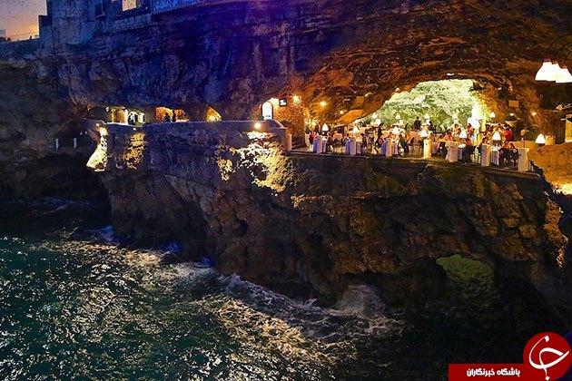 رستورانی زیبا در دل یک غار +تصاویر