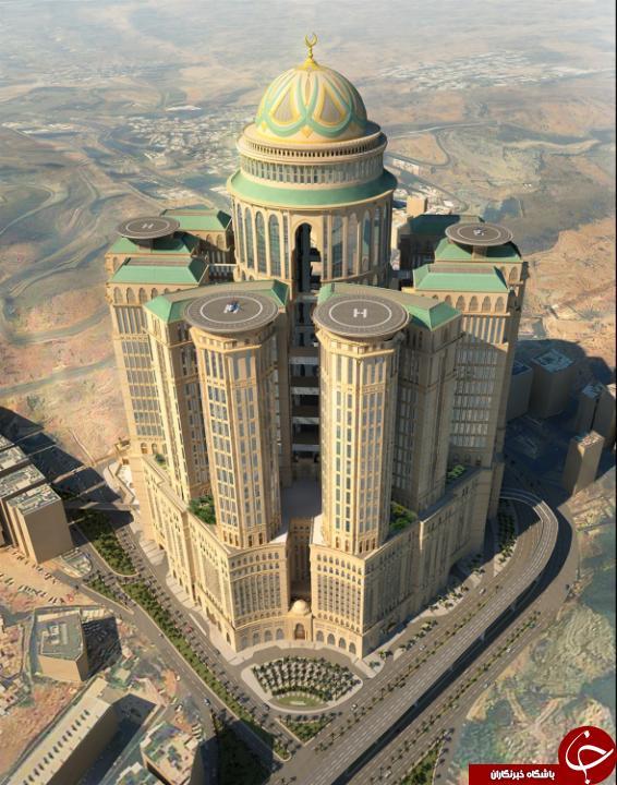 افتتاح بزرگترین هتل جهان در مکه+ تصاویر