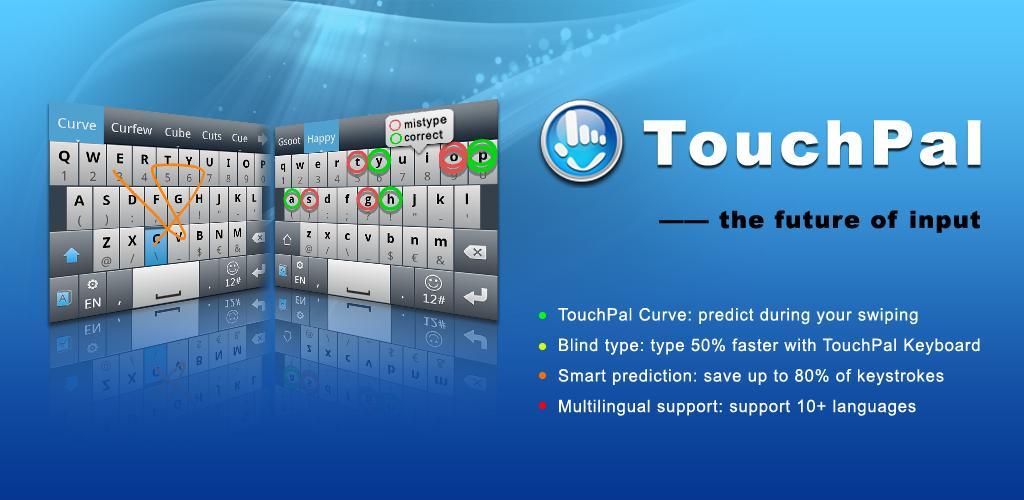 TouchPal Keyboard  صفحه کلید حرفه ای برای اندورید
