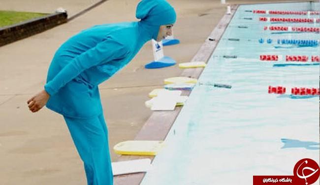 لباس شنای اسلامی زنان و مخالفت فرانسه با آن+عکس