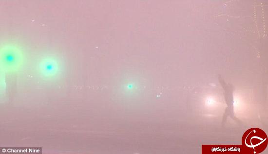 آدلاید گرفتار در مه غلیظ