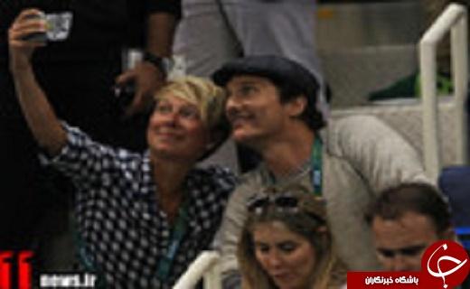 گزارش تصویری/ بازیگر هالیوودی مربی آمریکاییها در المپیک!