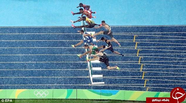 وقتی باران مسابقات المپیک را مختل می کند+تصاویر