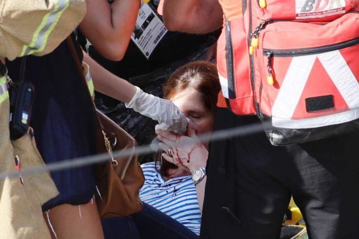 آسیب دیدگی 7 نفر در حادثه سقوط دوربین