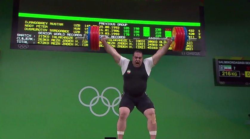 سلیمی رکورد المپیک را جا به جا کرد/بهداد در رده نخست یک ضرب