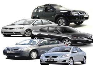 قیمت انواع خودرو وارداتی + جدول
