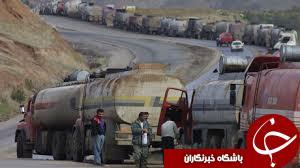 انهدام وحشتناک 30 تانکر نفتی داعش/ سوختن دلخراش تروریست ها در آتش+تصاویر (18+)