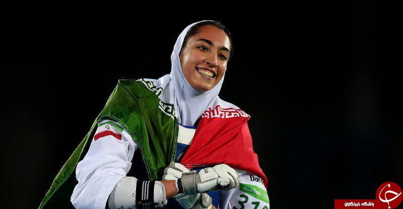 پنجمین مدال ایران با هنر بانوی ایرانی/کیمیا علیزاده پرچمدار بانوان تکواندو در المپیک شد +فیلم