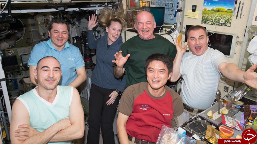 راهپیمایی فضانوردان در ایستگاه فضایی